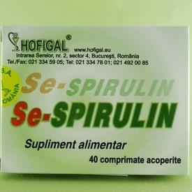 Se-Spirulin HOFIGAL (40 de comprimate acoperite)