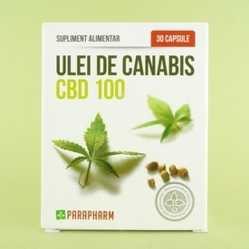 Ulei de canabis CBD 100 PARAPHARM (30 de capsule)