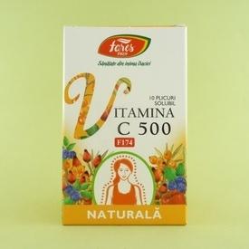 Vitamina C 500 naturala FARES (10 plicuri solubile)