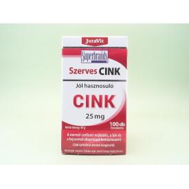Zinc organic 25 mg JutaVit JUVAPHARMA Kft. (100 tablete filmate)