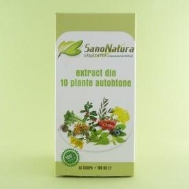Extract din 10 plante autohtone  SANONATURA (100 ml)
