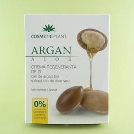 Crema regeneranta de zi cu ulei de argan bio si aloe vera bio COSMETIC PLANT (50 ml)