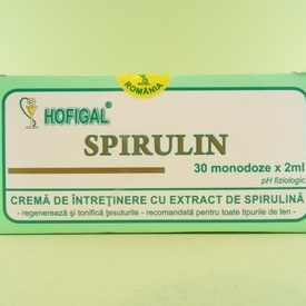 SPIRULIN crema monodoze  HOFIGAL (30 monodoze x 2 ml)