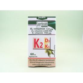 JutaVit Vitamina K2 -120µg, vitamina D3 - 2200 NE, vitamina K1 - 700µg JUVAPHARMA Kft. (60 capsule moi)