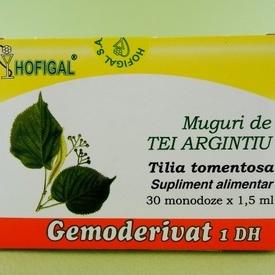 Muguri de tei argintiu - gemoderivat HOFIGAL (30 de monodoze x 1,5 ml)