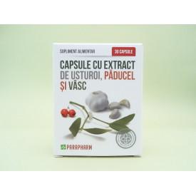 Capsule cu extract de usturoi, paducel şi vasc PARAPHARM (30 de capsule)
