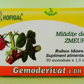 Mladite de zmeur - gemoderivat HOFIGAL (30 de monodoze x 1,5 ml)