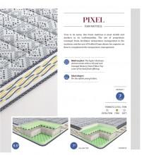 """Centuary Pixel Bonded Foam Mattress 7"""" With Pillow Top Gel Memory Foam with years warranty"""