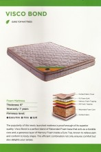 "CENTUARY VISCO BOND 6"" THERAPETIC BONDED FOAM  WITH  EURO TOP MEMORY FOAM MATTRESS WITH 7 YRS WARRANTY"