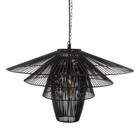 Lustra suspendata metalica, negru, PM1682243