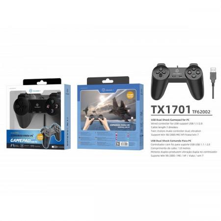 Usb Pc Single Player Gamepad negru, PMTF620023