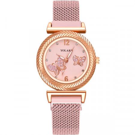 Ceas de Dama, cu inchidere magnetica, Butterfly, Q9603-V6