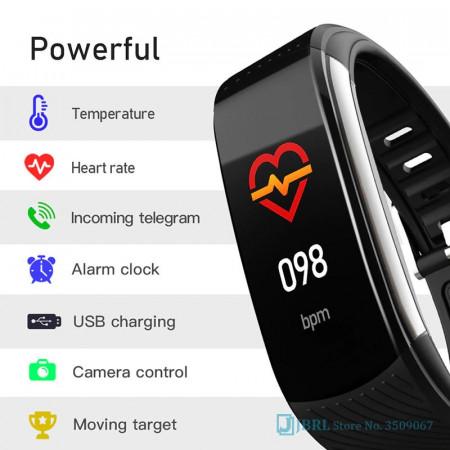 Ceas Sport Smart Fitness Tracker Smartwatch C6T, Negru