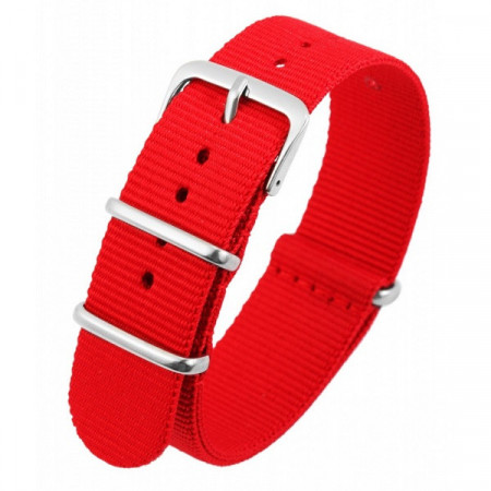 Curea de ceas, din material textil, Culoare Rosu, 20 mm, PM8600003-2003