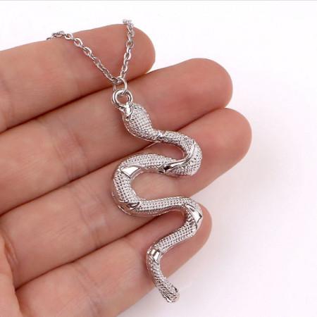 Lantisor Dama Snake - argintiu COL148