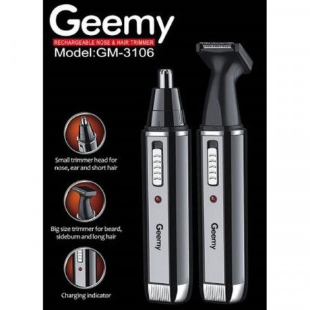 Trimmer facial electric si reincarcabil 2in1, Geemy GM-3106