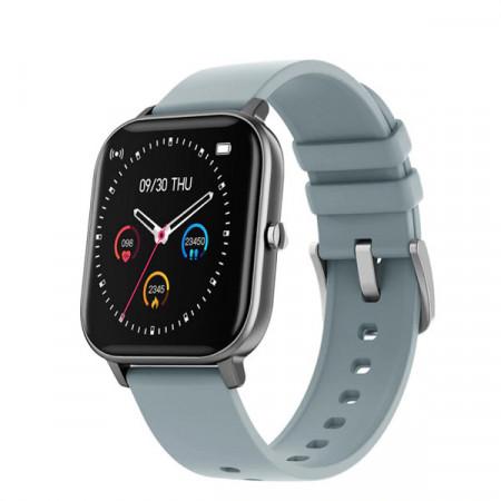 Ceas inteligent - Smartwatch P8 ecran cu touch 1.4 inch color HD, moduri sport, pedometru, puls, notificari, grey