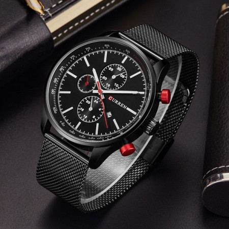 Imagine indisponibila pentru Ceas pentru barbati CR8227-Negru