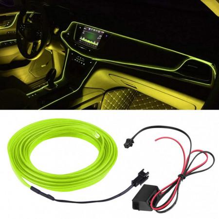 Fir electroluminescent neon El Wire, 5M, Verde-Lime