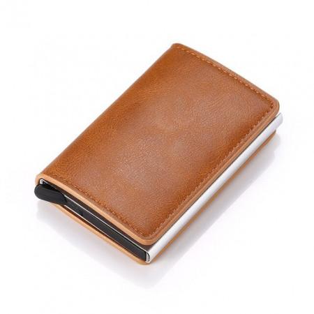 Portofel Unisex pentru carduri, Maro, PTL030-V1