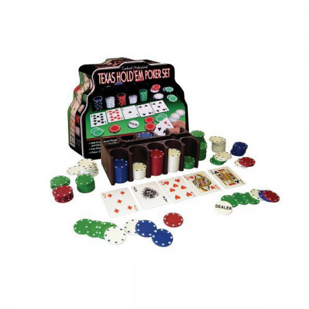 Professional Set Poker Texas 200, jetoane si carti