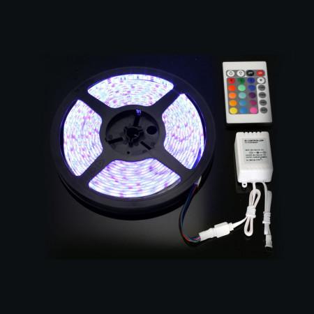 Bandă cu LED RGB - 5 metri. Set complet