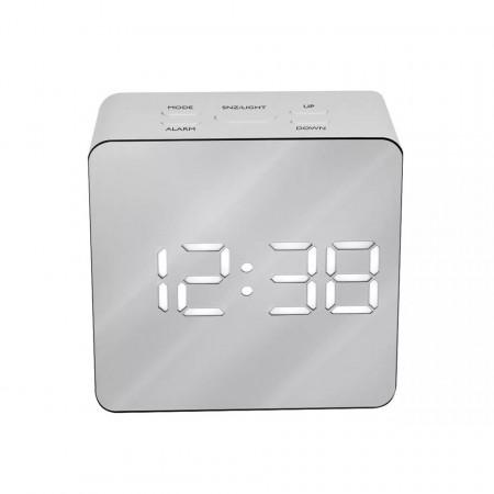 Ceas digital oglinda de birou cu alarma, temperatura