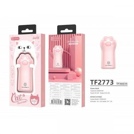 Baterie Externa CAT PALM 6500Mah 1Usb 2A, roz, PMTF360353