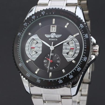 Ceas Barbatesc Automatic Winner D164-NEGRU/ARGINTIU