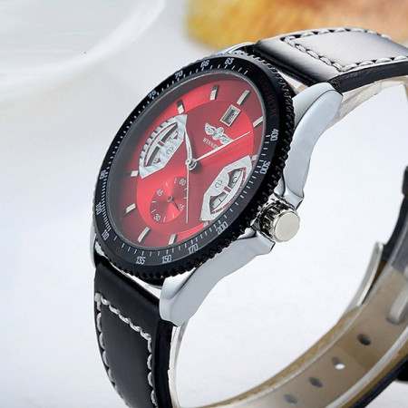 Poze Ceas mecanic full automatic Winner Red #P003
