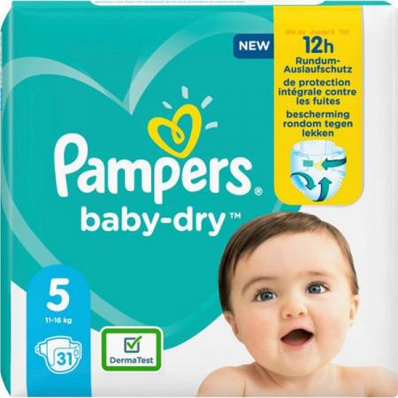 Scutece Pampers Baby-Dry, marimea 5, 11-16 Kg, 31 bucati, PM2264794-83