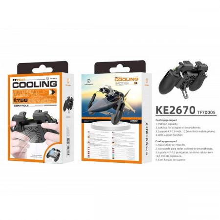 Suport mobil Gamepad cu baterie și ventilator, PMTF700053