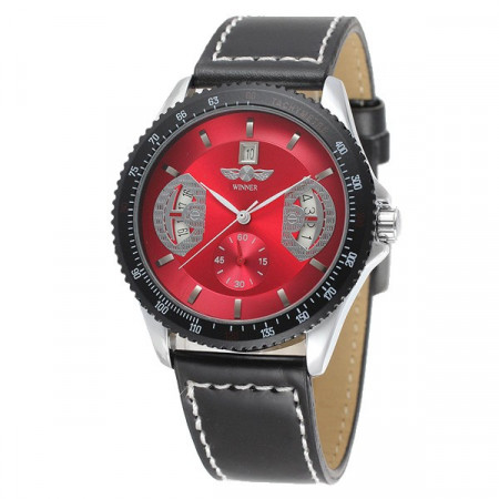 Poze Ceas mecanic full automatic Winner Red P003
