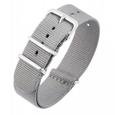 Curea de ceas, din material textil, Culoare Gri, 14 mm, PM8600001-1403