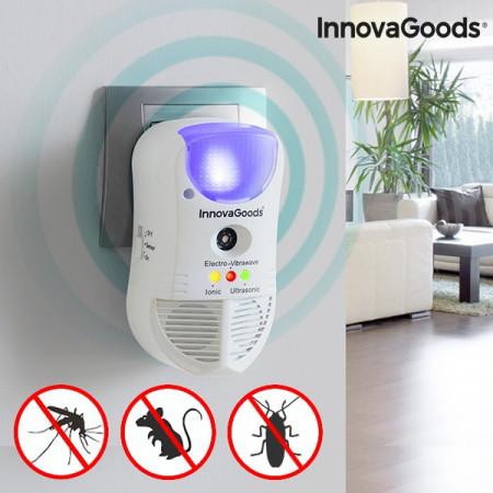 InnovaGoods 5 in 1 - aparat cu ultrasunete si unde electromagnetice impotriva rozatoarelor si insectelor taratoare