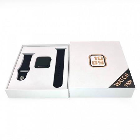 Smartwatch T500, Monitorizare Cardiaca, Tensiune, Sedentarism, Bluetooth 4.2 , Roz, T500-PINK