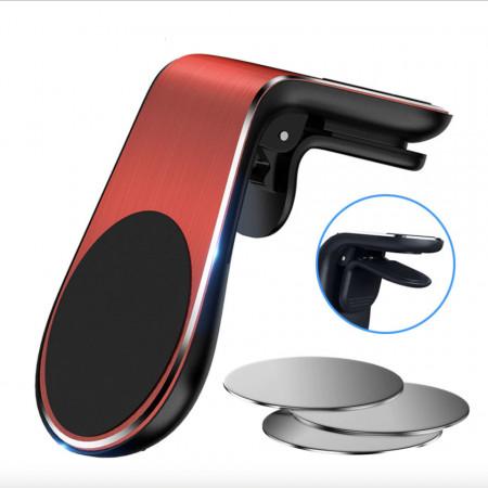Suport auto universal magnetic pentru telefoane - Vent Red