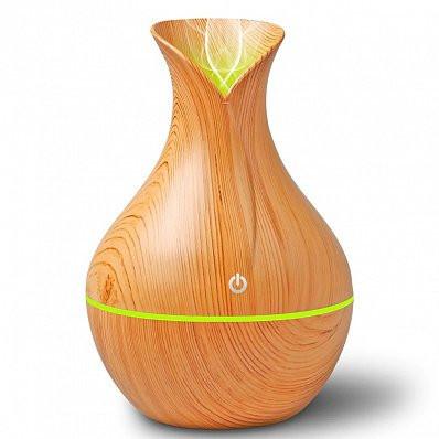 Difuzor Aromaterapie cu ultrasunete si Umidificator cu led, Home Store, 130 ml, Light Wood