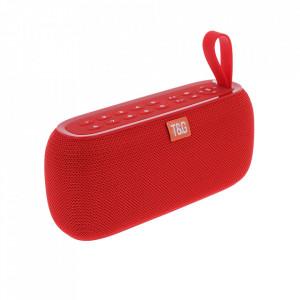 Boxa Portabila TG-177 Rosie cu Afisaj Digital,Ceas, Termometru, Radio, MP3, Bluetooth, USB, TF-Card