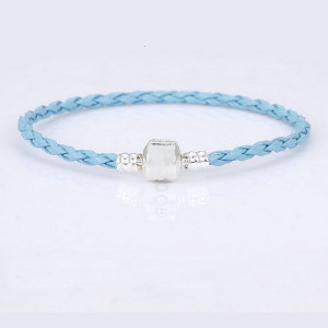 Bratara dama, piele - albastru BR314-V2