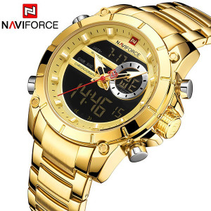 Ceas Barbatesc Dual-Time Multifunctional Naviforce NF9163-V1