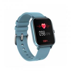 Ceas inteligent - Smartwatch P8 ecran cu touch 1.4 inch color HD, moduri sport, pedometru, puls, notificari, blue