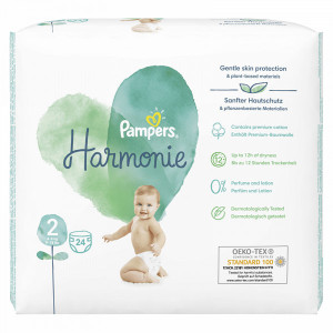 Scutece Pampers Harmonie, marimea 2, 4-8 Kg, 24 bucati, PM85959303