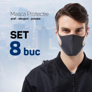 Set 8 buc Masca protectie pentru fata Fashion, negru