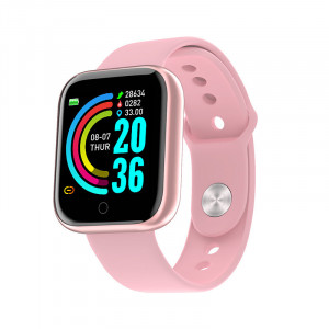 Smartwatch Y68, Fitness Tracker, Bluetooth, Roz