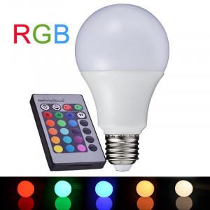 Bec LED RGB Dimmabil 7W, E27, 6000-6500K