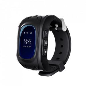 Ceas Smartwatch Pentru Copii Q50 cu Functie Telefon, Localizare GPS, Pedometru, SOS – Negru