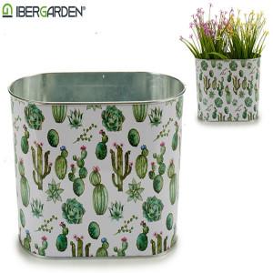 Ghiveci metal cactus (12,5 X 15,5 X 24 CM) mare oval