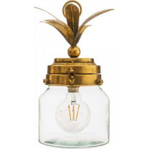 Lampa led ananas sticlă aurie , transparent , PM1732833