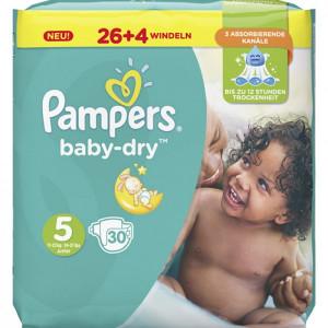 Scutece Pampers Baby-Dry, marimea 5, 11-23 Kg, 30 bucati, PM60043